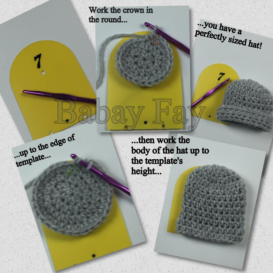 Izzy Crochet Hat Template by Isabelle Mounet of Babay Fay – The ...