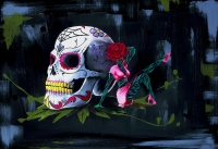 Vida-Y-Muerte-Christian-Gabriel-Acrylic-on-Canvas-24x36-2000